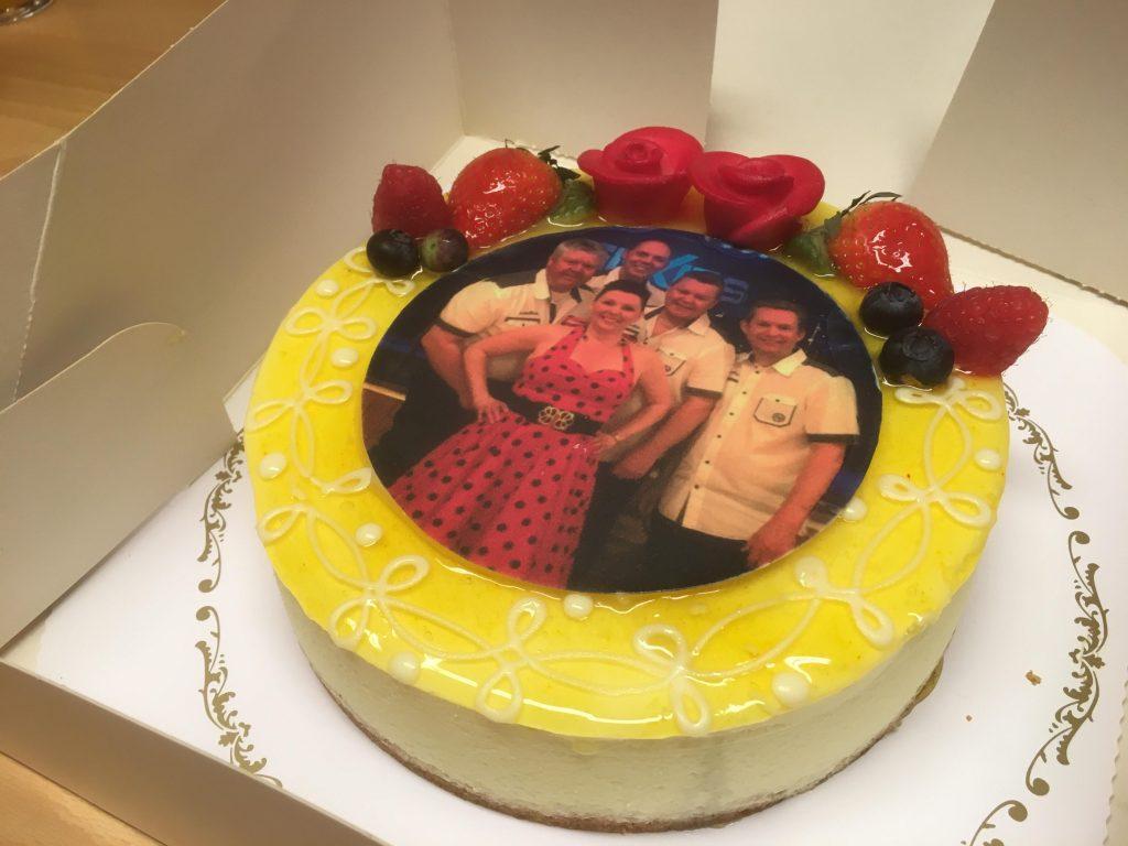 Vacker och god tårta från Granum Bakeri!